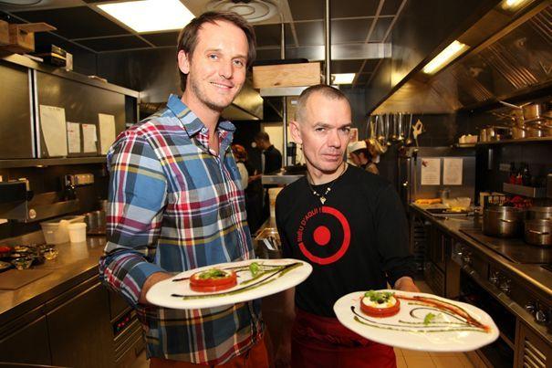 Pascal z Davidem Faure – szefem kuchni restauracji Aphrodite